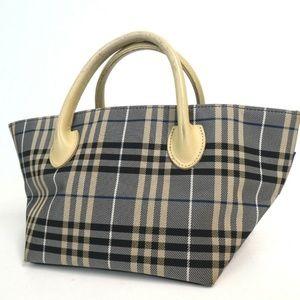 Auth Burberry Blue Label Handbag Navy #1477B41